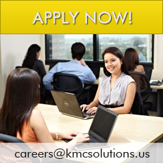 Apply now at careers@kmcsolutions.us